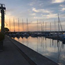 Bodensee Sonnenuntergang Bootsfahrschule Bottighofen
