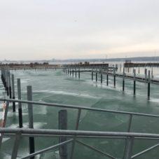 Bodensee vereist am Hafen Bottighofen CaptainsMarine (2)