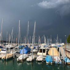 Unwetter am Bodensee Bootsfahrschule Bottighofen CaptainsMarine