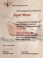 Nautik Schule Berufsfeuerwehr Basel Emil Munz - Ausbildung zum Radarfahrer