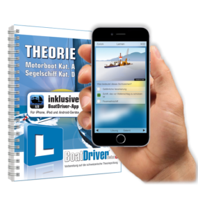 BoatDriver - THEORIE Kat. A_D App 2019 (App-Zugang 90 Tage) + Buch